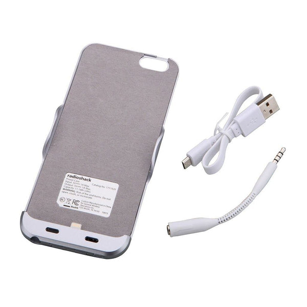 RadioShack 3000mAh Power Cell Phone Case Apple iPhone 6 (Space Gray)