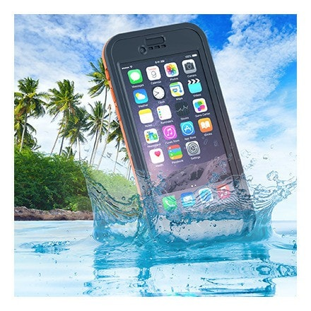 Dog & Bone Wetsuit Cell Phone Case Apple iPhone 6 (Orange)