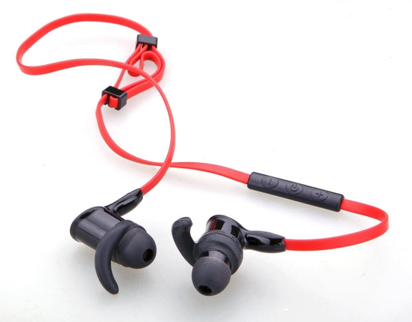 auvio bluetooth in ear sport headset red black radioshack. Black Bedroom Furniture Sets. Home Design Ideas