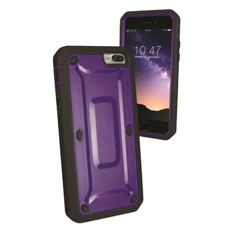 Accelorize Extra Protection Apple iPhone 7 Cell Phone Case (Purple)