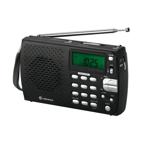 compact portable am fm shortwave radio radioshack. Black Bedroom Furniture Sets. Home Design Ideas