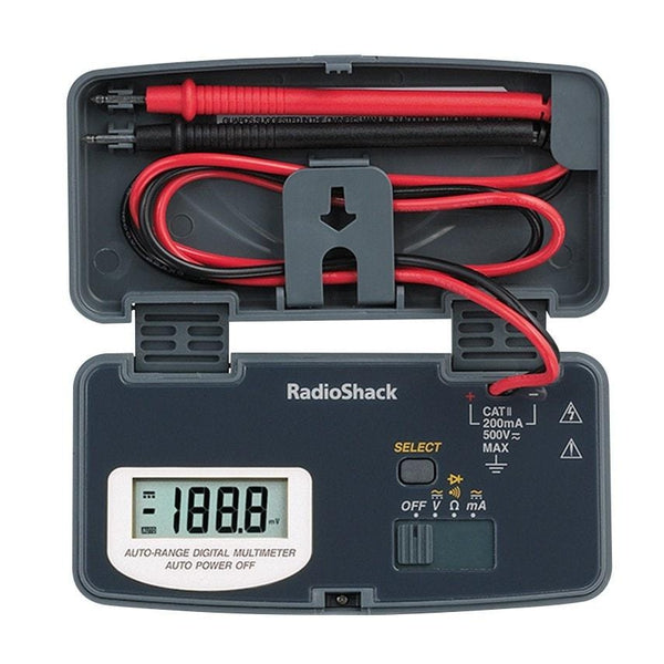 Radio Shack Electric Motor Kit: 22-Range Pocket Digital Multimeter