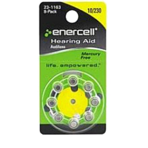 Enercell Mercury Free Hearing Aid Size 10/230 (8-Pack)