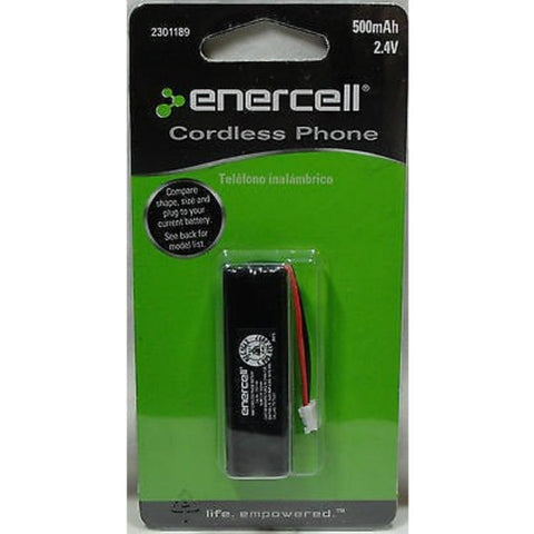 Enercell 2.4V/500mAh NIMH Cordless Phone Battery