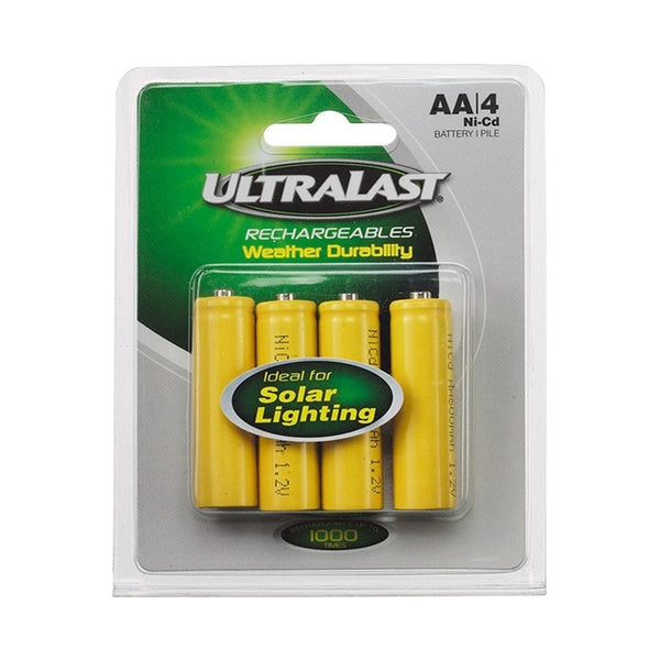 UltraLast 1.2V/700mAh Ni-Cd AA Batteries (4-Pack)