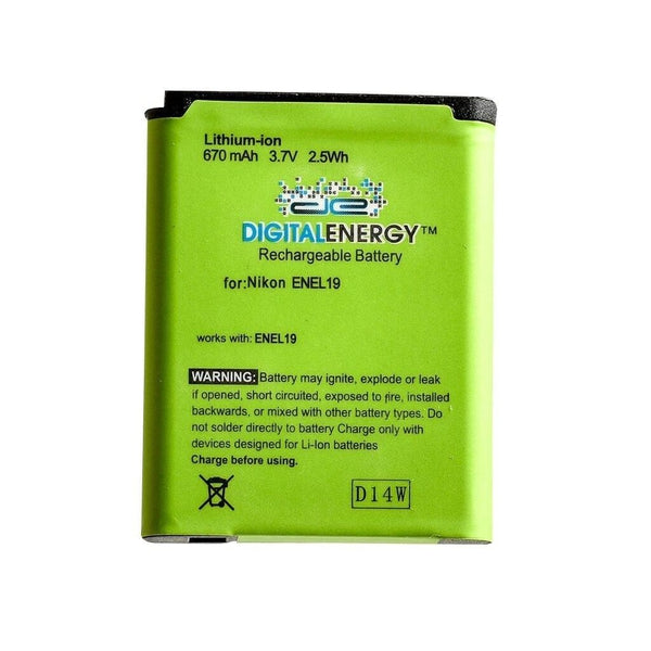 Digital Energy Nikon ENEL19 3.7/670mAh Battery