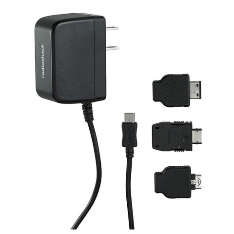 RadioShack 5V/1.2A Micro USB AC Adapter with Tips