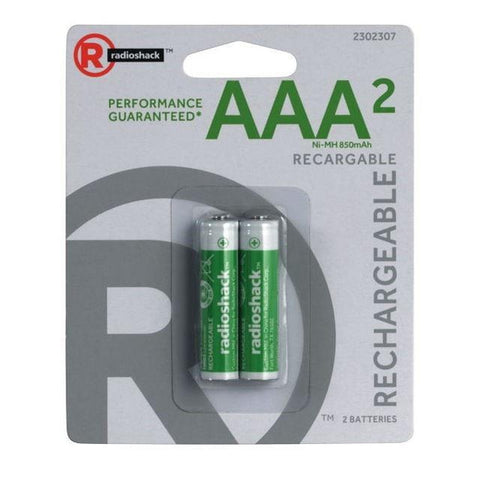 AAA Rechargeable Batteries (2-Pack)