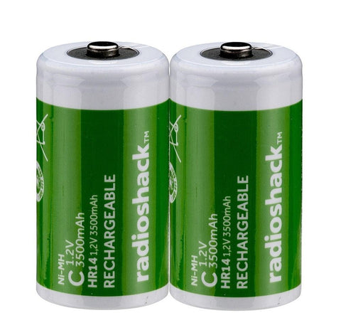 C Rechargeable Batteries (2-Pack)
