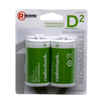 D Rechargeable Batteries (2-Pack)