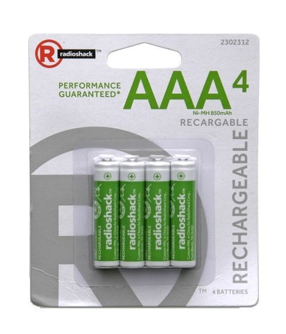 AAA Rechargeable Batteries (4-Pack)