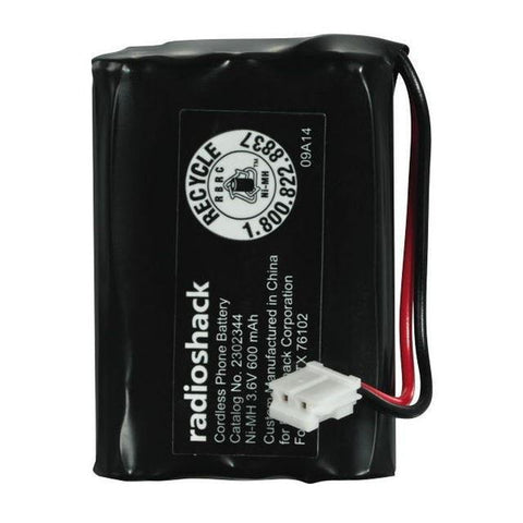 RadioShack 3.6V/600mAh Ni-MH Cordless Phone Battery 3xAAA Size for RadioShack GE RCA & Clarity Phones