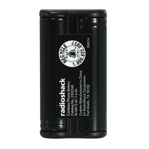 RadioShack 2.4V/1400mAh Ni-MH Cordless Phone Battery