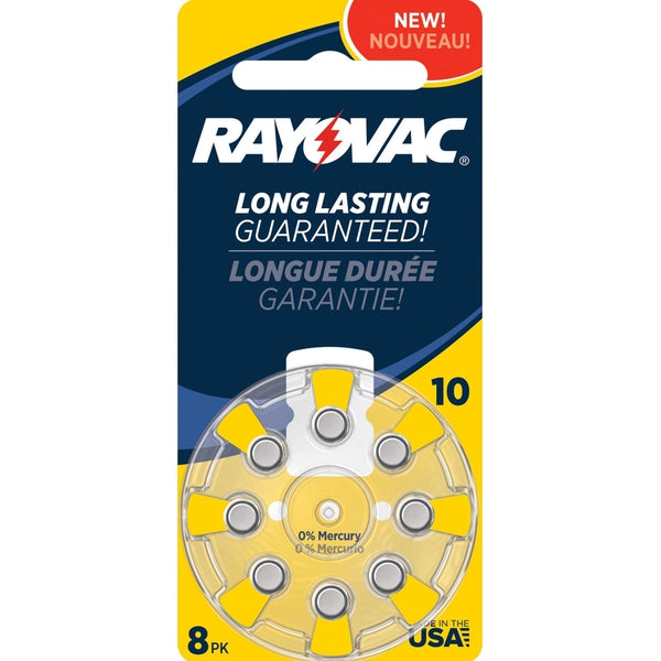 Rayovac Size 10 Zinc-Air Hearing Aid Batteries (8-Pack)