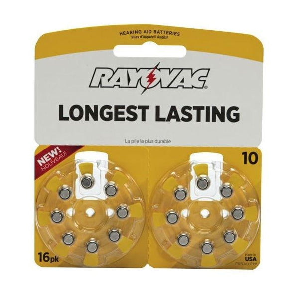 Rayovac Size 10 Zinc-Air Hearing Aid Batteries (16-Pack)