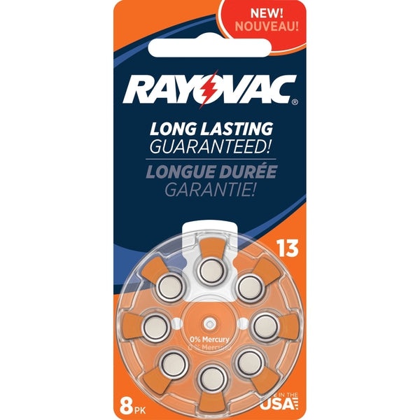 Rayovac Size 13 Zinc-Air Hearing Aid Batteries (8-Pack)