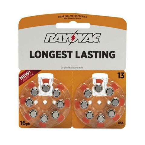 Rayovac Size 13 Zinc-Air Hearing Aid Batteries (16-Pack)
