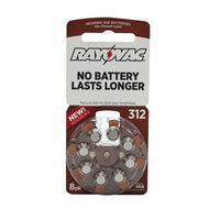 Rayovac Size 312 Hearing Aid Batteries, 8-Pack