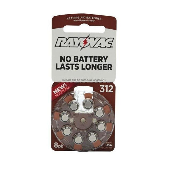 Rayovac Size 312 Zinc-Air Hearing Aid Batteries (8-Pack)