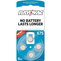 Rayovac Size 675 Hearing Aid Batteries, 8-Pack