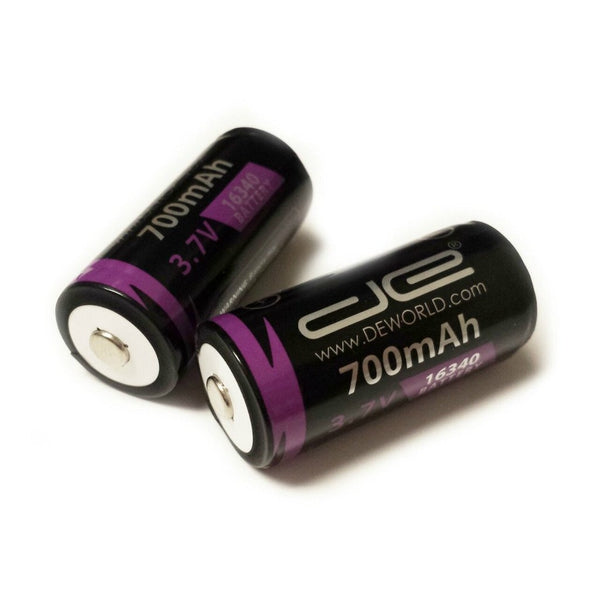 16340 Battery with PCB (2-Pack)