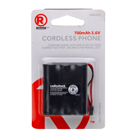 RadioShack 3.6V/700mAh NiMH Cordless Phone Battery for Panasonic HHR-P107