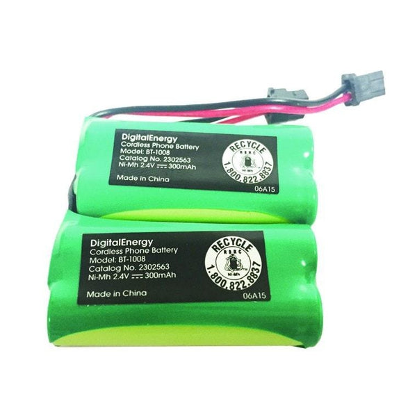 Digital Energy 2.4V/300mAh NIMH Cordless Phone Battery (2-Pack)