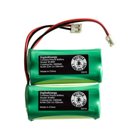 Digital Energy 2.4V/700mAh NIMH Cordless Phone Battery (2-Pack)