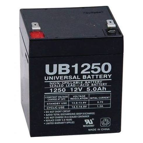 Universal Power Group 12V/5Ah Lead-Acid Alarm Battery
