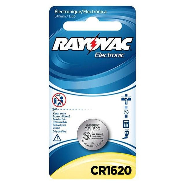 CR1620 3V Lithium Button Cell Battery - Rayovac