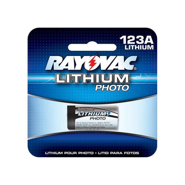 Rayovac CR123 3V/1550mAh Lithium Photo Battery