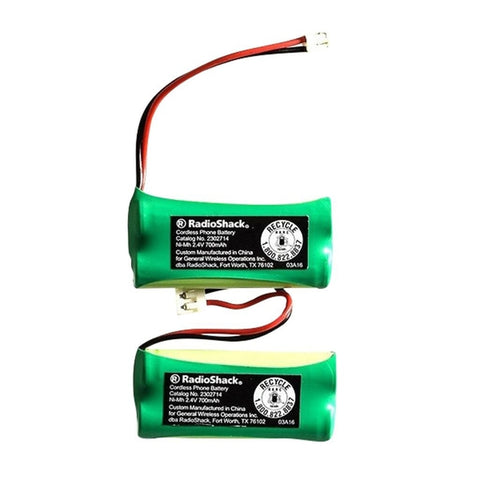 RadioShack VTech 6010 2.4V/700mAh NiMH Cordless Phone Batteries (2-Pack)