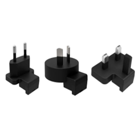 RadioShack EU/UK/AU Removable Plugs (Black)