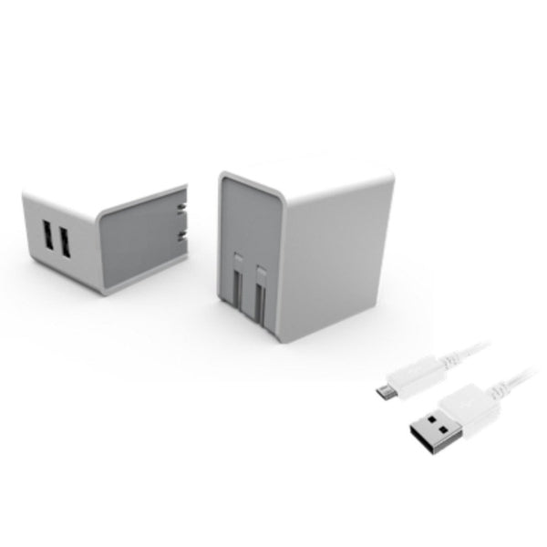 5V/3.4A Dual USB AC Wall Charger with 6-Foot Micro USB Cable