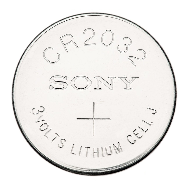 CR2032 3V Lithium Button Cell Battery - Sony, 5-Pack