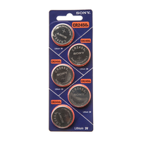 Sony CR2450 3V Lithium Button Cell Battery: 5-pack