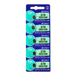 379 1.55V Silver-Oxide Button Cell Battery - Sony, 5-Pack