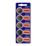 CR2025 3V Lithium Button Cell Battery - Sony, 5-Pack