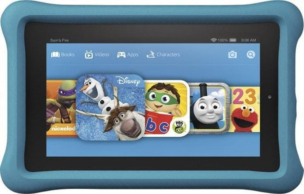 Amazon Fire Kids Edition 7-Inch Tablet Fire 16GB w/ Blue Case
