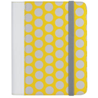"Universal Folio Case for 7-8"" Tablets - Yellow/Gray"