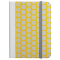 "Universal Folio Case for 8.9-10.1"" Tablets - Yellow/Gray"