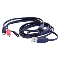 6' Triple Micro USB Cable, Type-A to 3x Micro USB