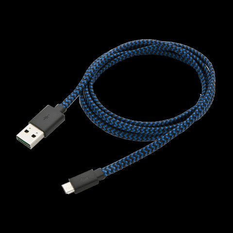 RadioShack 4-Foot Flat Braided Micro USB Cable (Blue)