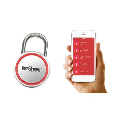 Dog & Bone Large Keyless Bluetooth Padlock (Silver)