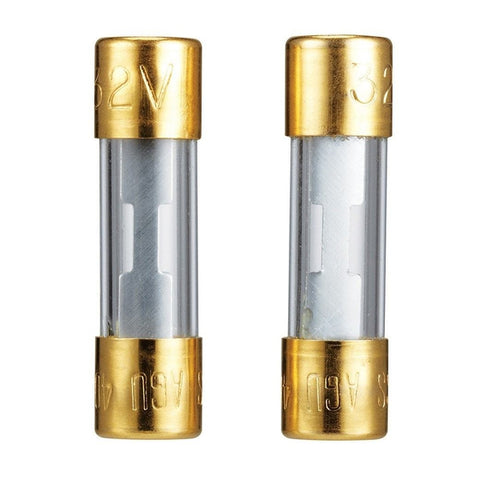 "RadioShack 60A/32V Gold-Plated 1-1/2x13/32"" Glass Fuse (2-Pack)"