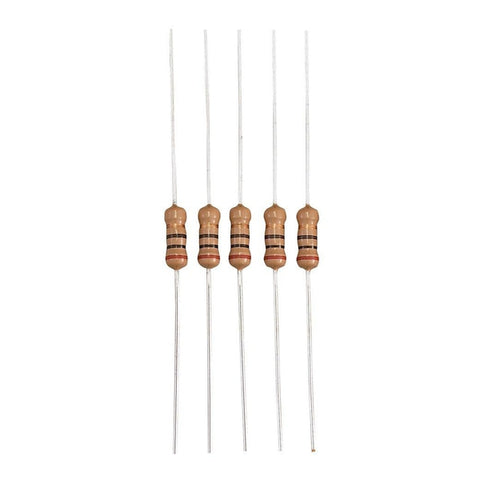 10-Ohm, 1/2-Watt 5% Carbon Film Resistor (5-Pack)