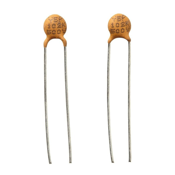 0 001uf 500v 20 Hi Q Ceramic Disc Capacitor 2 Pack