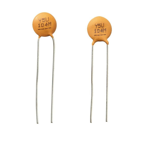 0.1uF 50V Hi-Q Ceramic Disc Capacitor (2-Pack)