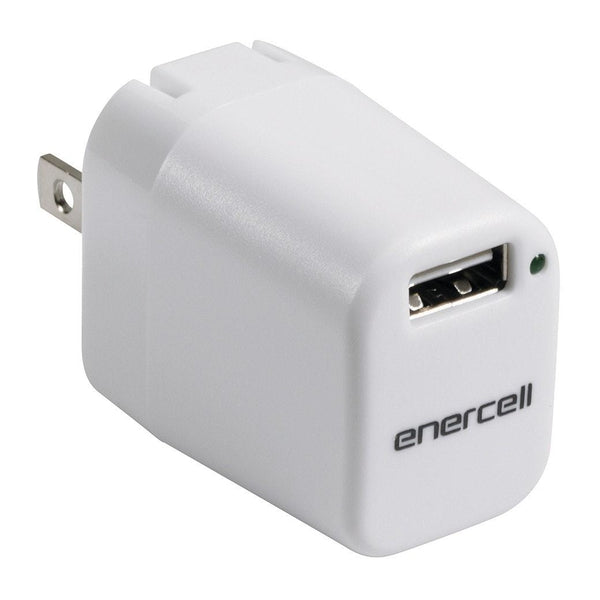 Enercell 5VDC/1A Charger with USB  (White)