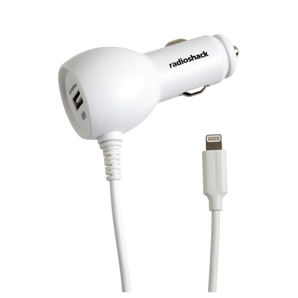 Lightning Car Charger with Extra USB Port 5V 3.4A